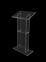 The Abacus Clear lectern is a truly premium lectern