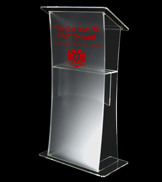 The Academy Frosted acrylic lectern