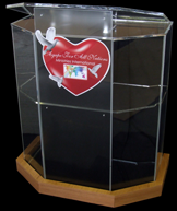 An imposing 5 sided premium acrylic lectern