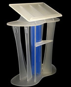 This stunning ultra-modern lectern is designed with technology lead companies in mind